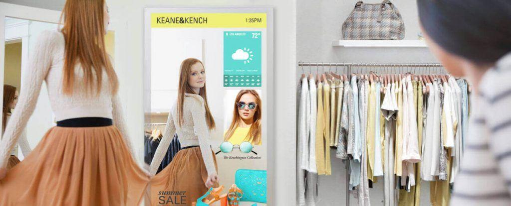 Pantallas digitales para tiendas de moda o retail