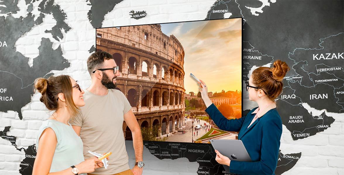 Pantalla Digital SIgnage para Agencias de Viajes
